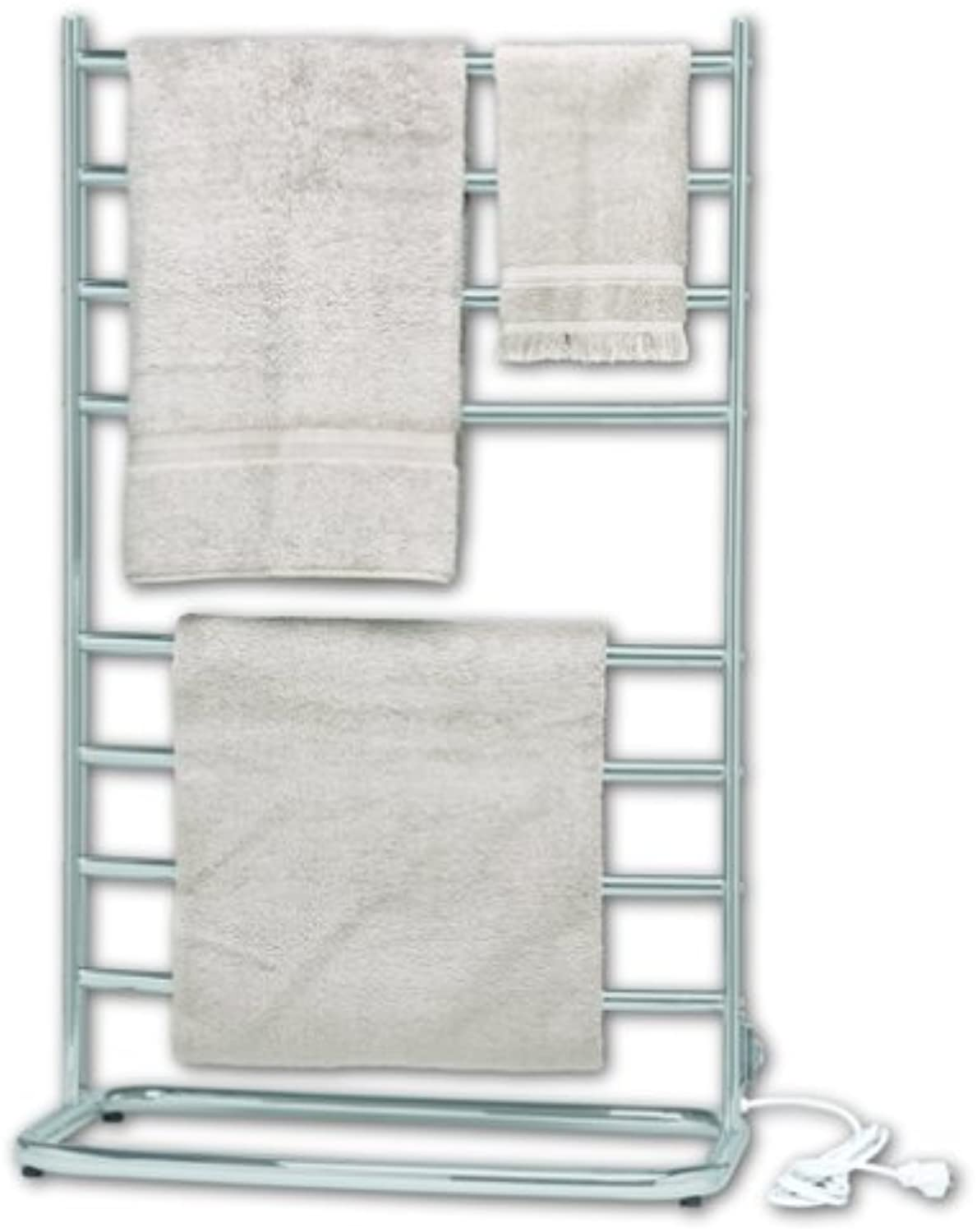 Warmrails WHS Hyde Park Family Size Floor Standing Towel Warmer, Nickel Finish