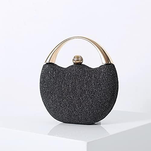wbwlfjtlll Women's Wedding Clutch Evening Bag Small Female Handbag Luxury Wedding Bridal Purse Chain Party Shoulder Bag (Color : Black)