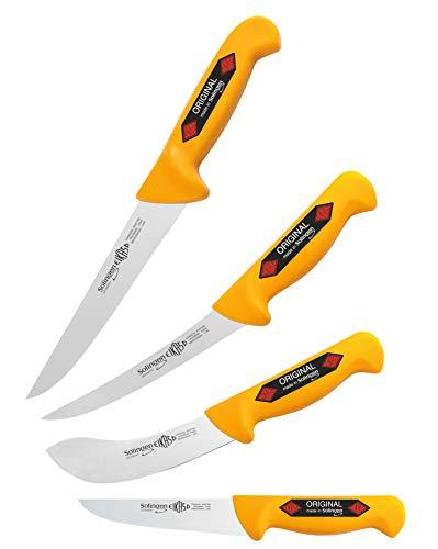 4 Teilig Solingen Hausschlachter Schlachtermesser Metzgermesser Ausbeinmesser Kurban 2280 G Butcher Knife
