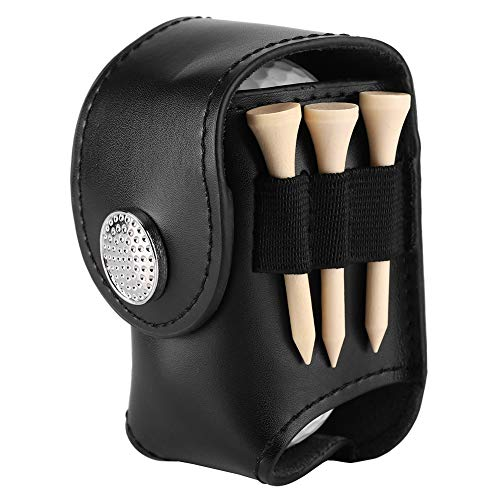Nikou Golfballtasche - Golfballhalter Clip Golfbälle Tees Taschen Utility Pouch for Golf-Tackle-Set mit Bällen Tees (Farbe : Black)
