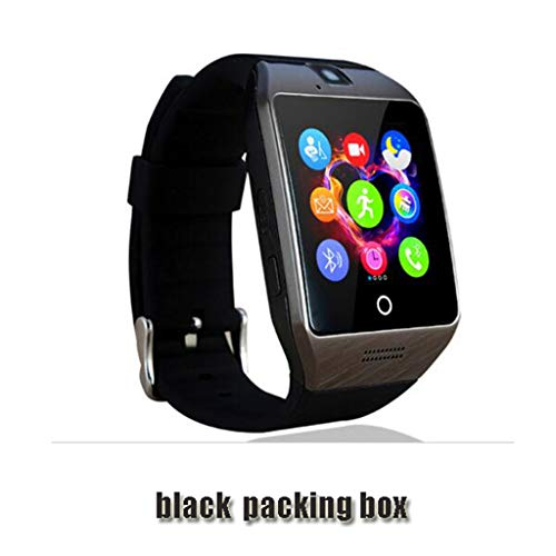 JingJingQi smart watch Bluetooth Smart Watch Q18 Met Camera Facebook Whatsapp Twitter Sync SMS Smartwatch Ondersteuning SIM TF-kaart Voor IOS Android