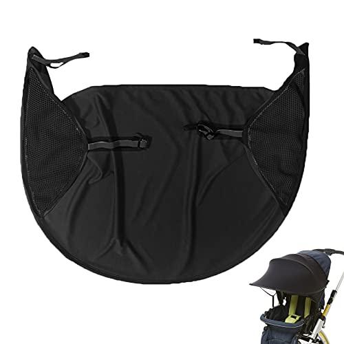 Parasol Universal Anti-UV para cochecito, fundas para el sol, accesorios para toldo, silla de paseo, protección solar (no incluye cochecito) Black