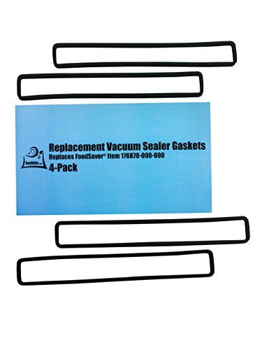 Replacement Gaskets (4 Foam Gaskets) for FoodSaver - Fits FM2000, FM2010, FM2100, GM2050, GM2150 Series Vacuum Sealers (Replaces FoodSaver Item 176870-000-000) by OutOfAir