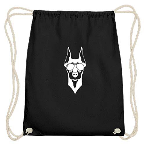 Cooler Dobermann Mit Sonnebrille Hund Rasse Wachhund - Schlichtes Und Witziges Design - Baumwoll Gymsac