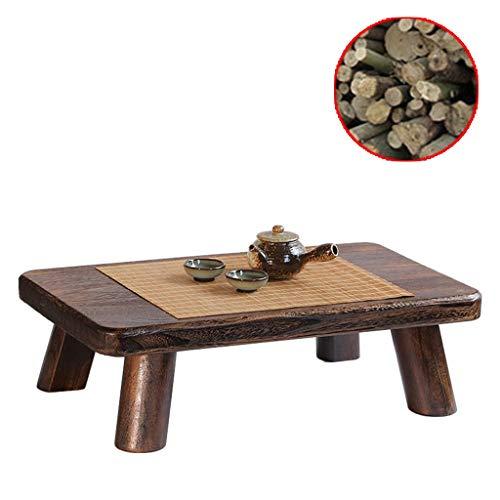 Gartenmöbel & Zubehör Tische Massivholz Erker Tisch japanischer Profi Teezeremonie niedriger Tisch Balkon Tatami Tisch Couchtisch, handpoliert (Color : Brown, Size : 18 * 35 * 68cm)