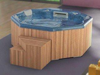Spa portable MARGARITA 5 places bleu bois avec blower Procopi 31203300
