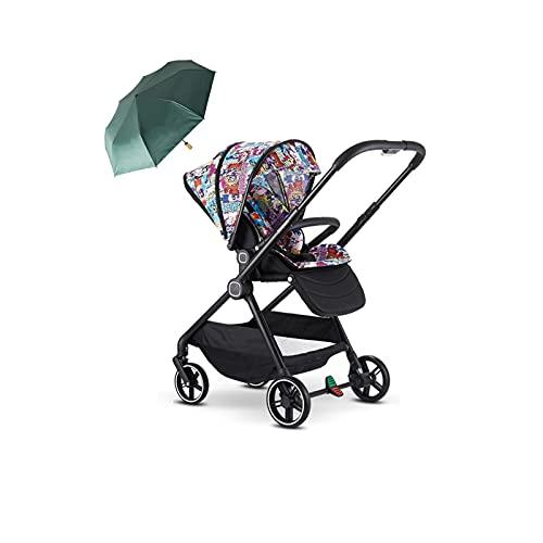 Tokujn Cochecito de bebé convertible, puede sentarse, acostar la cochecito de la caza con el soporte de la taza, el espacio de almacenamiento, la suspensión de las ruedas, el...
