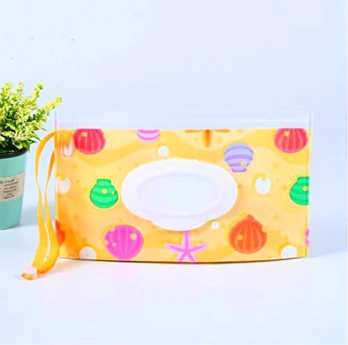 Hmg Toallitas portátil tirón Desmontable Bolsa de EVA Sanitaria toallitas de Mano (Conchas) (Color : Shells)