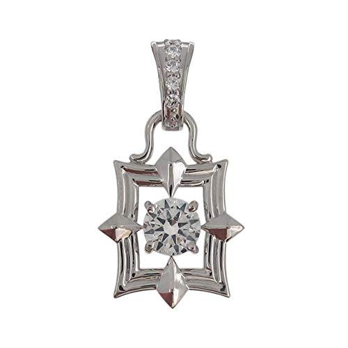 [プレジュール]ペンダントトップ ホワイトゴールド 18金 喜平用 メンズ 天然石 ダイヤモンド