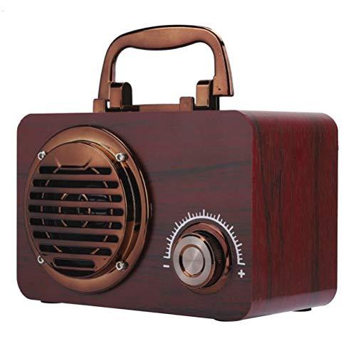 Release Altavoz Bluetooth Vintage De Madera, Altavoces Portátiles De Alta Sensibilidad para Exteriores, Caja De Altavoz Inteligente para Ordenador (Color : B)