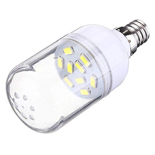 Bulbos E12 150LM 2W Blanco/blanco cálido 9 SMD 5630 LED Foco de bombilla de maíz 110 Bombillas vintage (Color : Pure white)