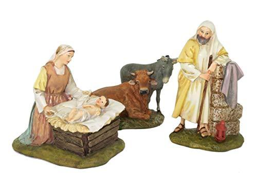 Ferrari & Arrighetti  Figuras Belén Nacimiento con 5 personajes, Colección Martino Landi para pesebre, 12 cm