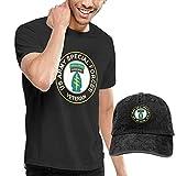 SOTTK Homme T- T-Shirt Polos et Chemises, US Army Veteran Special Forces Logo Men's Short Sleeve T Shirt & Washed Adjustable Baseball Cap Hat