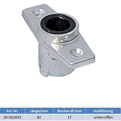 Rudergabelbuchse Aluminium mit Buchse Ø 17 mm