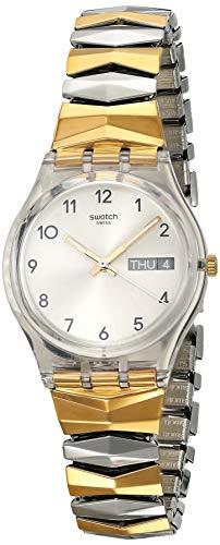 Swatch Reloj Digital para Mujer de Cuarzo con Correa en Acero Inoxidable GE707A