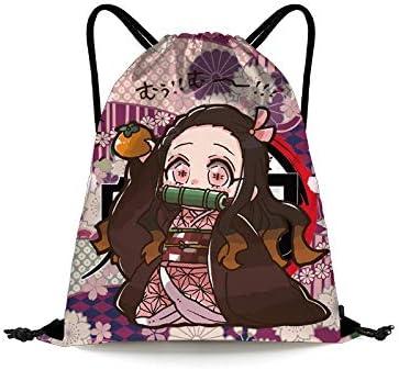 Anime In stock Long Beach Mall Demon Slayer Nezuko Drawstring Backpack Kamado