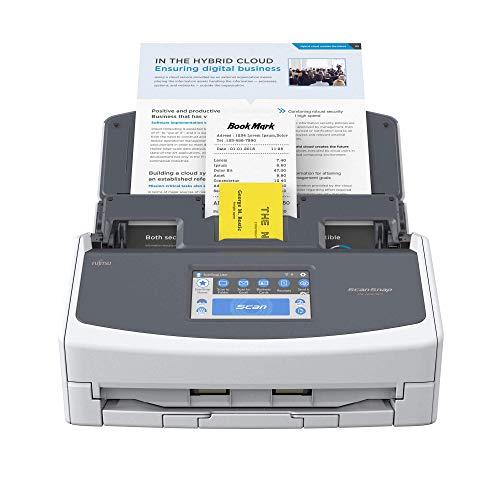ScanSnap iX1600 Blanca - Escáner de Documentos de Oficina - ADF Scanner, Doble Cara, WiFi, Pantalla táctil ADF, USB 3.2