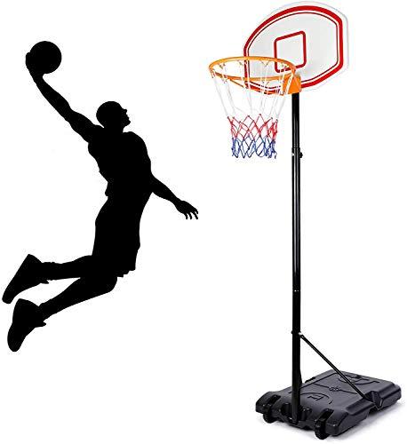 amzdeal Einstellbare Basketballständer, Basketballkorb mit Ständer Höhenverstellbar, Basketballkorb Kinder, Basketball-Backboard Ständer Hoop Set für Kinder Kinder Draußen/Drinnen