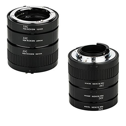 JJC F Mount Auto Focus Macro Extension Tube Set for Nikon D850 D750 D780 D3500 D3400 D7500 D7200 D7100 D7000 D5600 D5500 D5300 D5200 D5100 D5000 D3300 D3200 D3100 D800 D810 D700 D610 D600 D500 & More