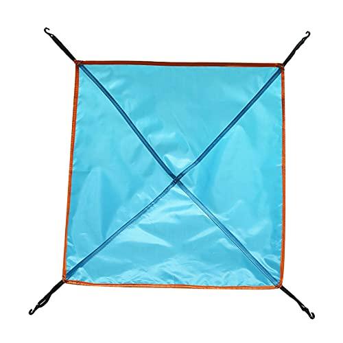 F Fityle Leggero Impermeabile Ripstop Rain Fly Hammock Canvas Cover Tenda Shelter per Viaggi in Campeggio All'aperto - Blu