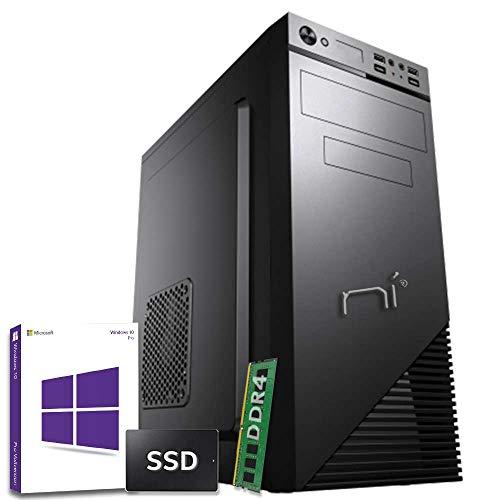 PC DESKTOP 16 GB RAM DDR4 SSD 240 GB Con licenza Windows 10 pro INTEL QUAD CORE Wi-fi 300 Mb/S Fibra HDMI/USB 3.0 PC FISSO COMPLETO ASSEMBLATO