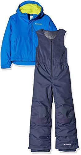 Columbia Enfant Combinaison de Ski avec Veste, BUGA, Nylon, Bleu (Super Blue), Taille : 4T