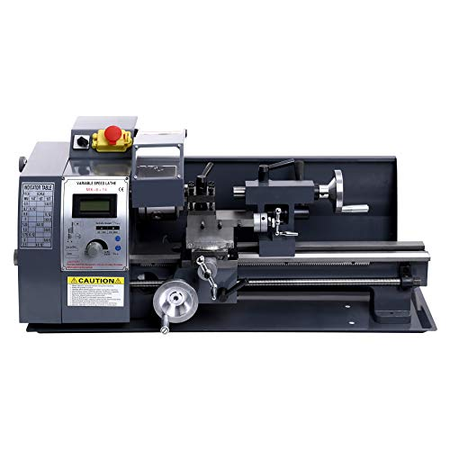 "CO-Z 600W Mini Benchtop Metal Lathe with Metal Gears, 8""x14"" Wood & Metal Working Tool"