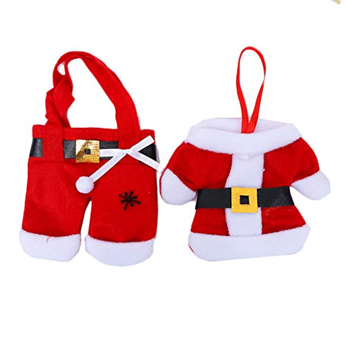 GYH Ensemble de Couteaux et de fourchettes de décoration de Bureau de Noël, Cadeau de Noël, vêtements de Noël à thème Pantalons créatifs Couteau et Fourchette de setware (Paquet de 3) /&