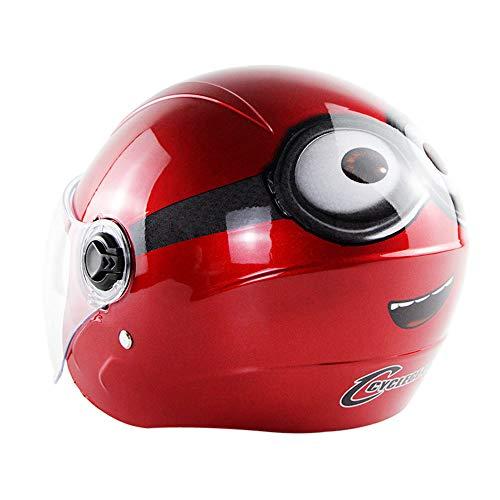 ZOLOP Medios Cascos De Moto- Casco eléctrico para niños,bicicleta, ciclomotor, niño y...