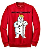 Snowtorious - Ugly Christmas Sweater (red, Medium)