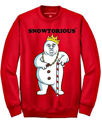 Snowtorious - Ugly Christmas Sweater (red, XL)