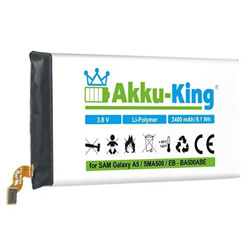Akku-King Akku kompatibel mit Samsung EB-BA500ABE - Li-Polymer 2300mAh - für Galaxy A5 SM-A500, SM-A500F, SM-A500G, SM-A500M, SM-A500YD, SM-A500YZ