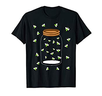Fireflies Bugs In A Jar Firefly Lightning Insects T-Shirt