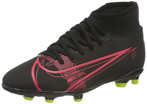 Nike Mercurial Superfly 8 Club MG Soccer Shoe, Black/Black-Cyber-Siren Red, 38.5 EU