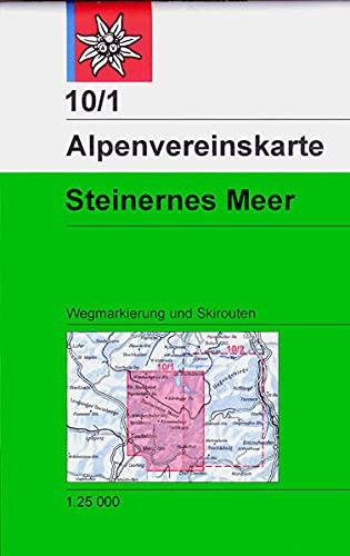 Steinernes Meer: Wegmarkierungen und Skirouten - Topographische Karte 1:25.000 (Alpenvereinskarten)