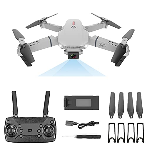 SWETIY Drone Con Telecamera,Ultraleggero E Pieghevole Drone Quadcopter Con Camera 4K,3D Flip E Modalità Headless, Funzione Di Hovering, Un Pulsante Decollo E Atterraggio, G-Sensore, Grigio,3 batteries