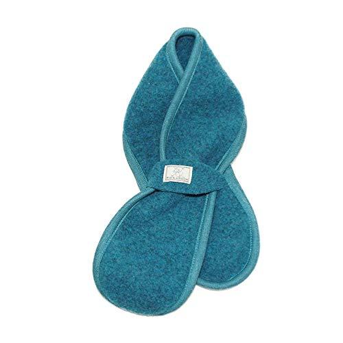 PickaPooh PICKAPOOH Baby/Kinder Schal aus reinem Bio-Wollfleece, Petrol, Bindeschal 110 x 13 cm