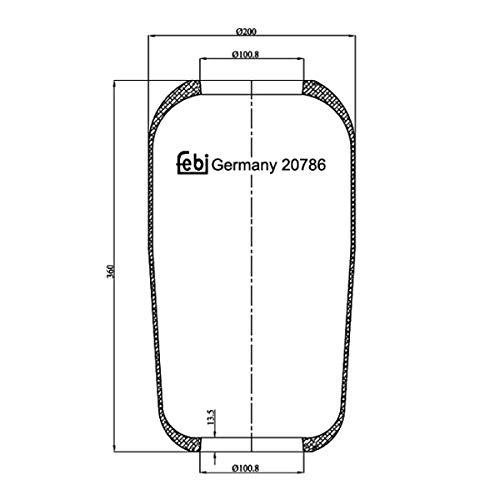 Febi-Bilstein 20786 Fuelle, suspensión neumática