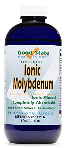 Good State | Liquid Ionic Molybdenum | Completely Absorbable | Nano Sized Mineral Technology | Supports Healthy Teeth, Skin & Bladder | 96 Servings at 75 mcg | 8 Fl oz Bottle