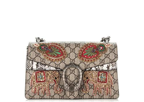 """Gucci Authentic Handbag duffle bag military green Flora snake print canvas Leather Strap Fabric Weekender Travel Luggage New Made in Italy. Only 1 left in stock. Detachable, adjustable blue and red web shoulder strap; 20"""" drop. Top Web handle straps;..."""