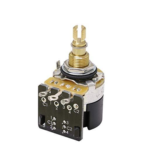 CTS Push Pull DPDT Pot 500k Audio Taper, Spilt Shaft (24 Spline)