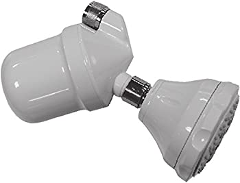 Nikken 1 MicroJet Wall Mount Model Shower Head Filter System  14662  - Neutralizes Chlorine and Hard Water - Oxygen Aerator -  2.5 GPM  and  9.5 LPM  - Air-Induction Magnetic PiMag Water Technology