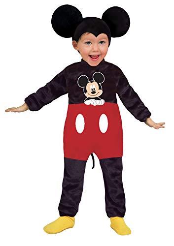 Ciao 11247.18-24 - Disney Costume Baby Mickey Classic, Nero/Rosso, 18-24 mesi