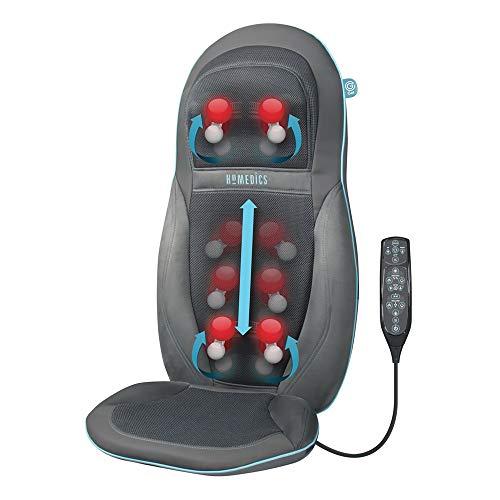 Homedics SGM1600 Seduta Massaggiante Esclusivo Technogel, Doppio motore per collo e schiena,...