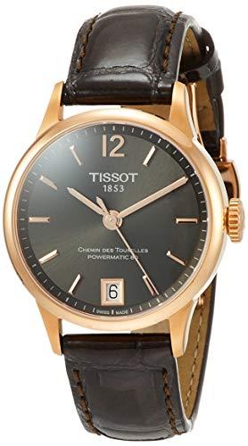 womens Chemin des Tourelles Stainless Steel Dress Watch Brown - Tissot T0992073644700
