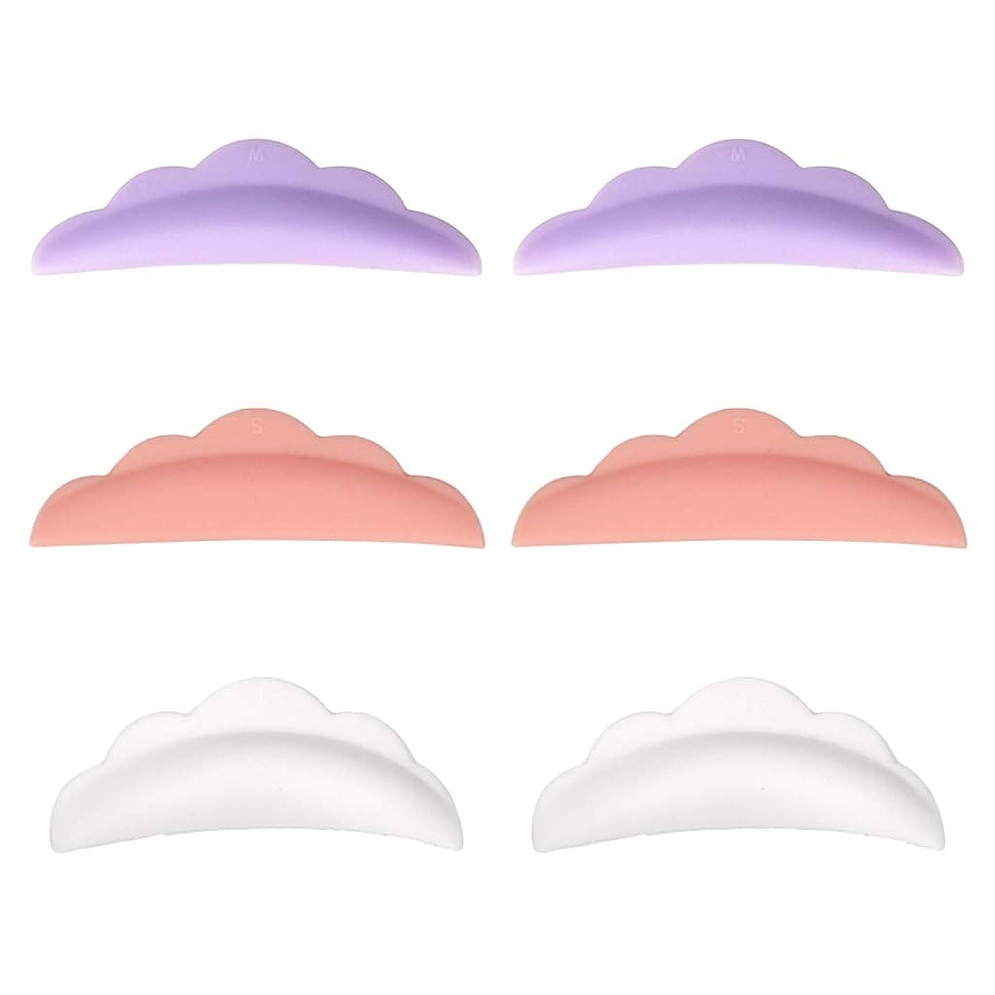 抱擁祈る減衰CUTICATE まつげカーリングパッド まつげパッド シリコーン やわらかい 再利用可能 使いやすい 3対セット