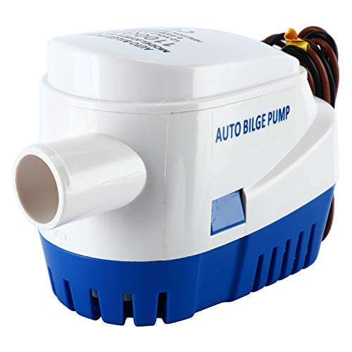 DasMarine 12V Automatic Submersible Boat Bilge Water Pump 1100GPH Built-in Auto Float Switch (1100GPH)