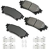 Akebono - ACT1391A Ultra-Premium Ceramic Rear Disc Brake Pads, GREY