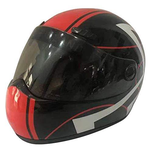 AILOVA Klein Haustier Helm, 16x12x12cm Hunde Cat Helm Motorräder Fahrradhelm Pet Hat für Outdoor Sportarten (SCHWARZ ROT)