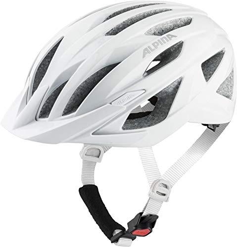 ALPINA Unisex - Erwachsene, PARANA Fahrradhelm, white gloss, 55-59 cm